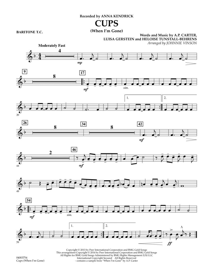 Cups (When I'm Gone) - Baritone T.C.