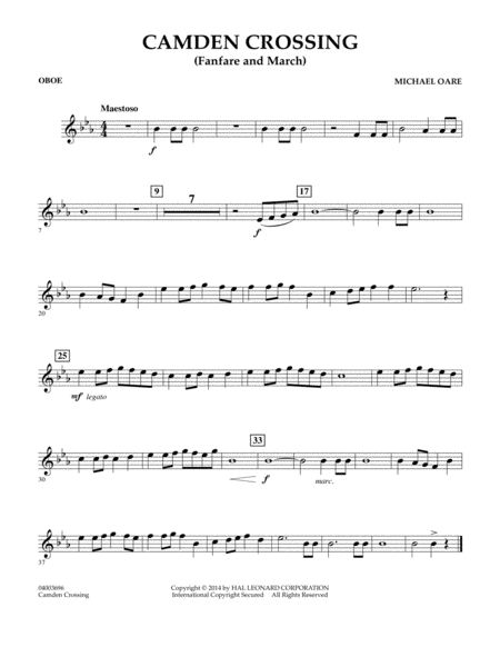 Camden Crossing (Fanfare and March) - Oboe