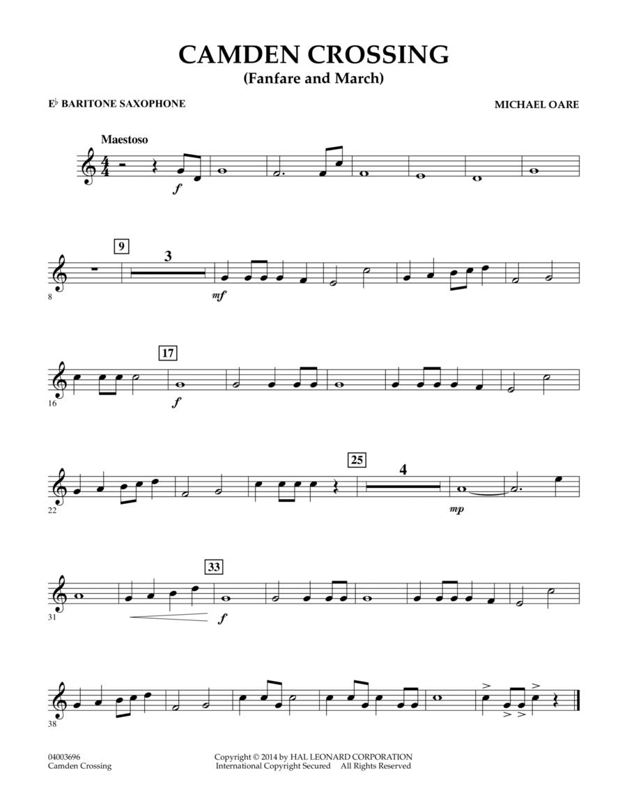 Camden Crossing (Fanfare and March) - Eb Baritone Saxophone