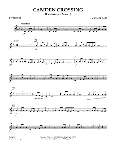 Camden Crossing (Fanfare and March) - Bb Trumpet