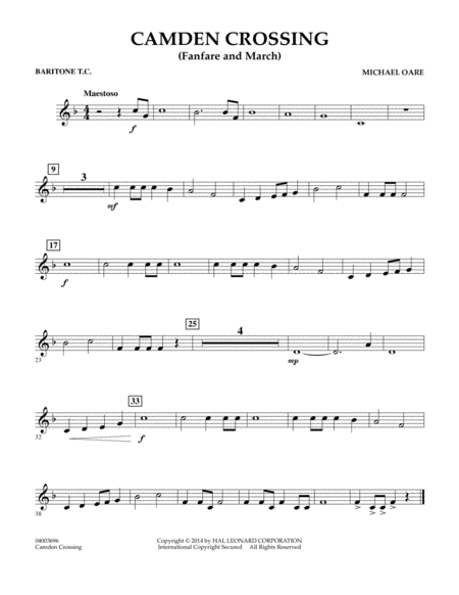 Camden Crossing (Fanfare and March) - Baritone T.C.