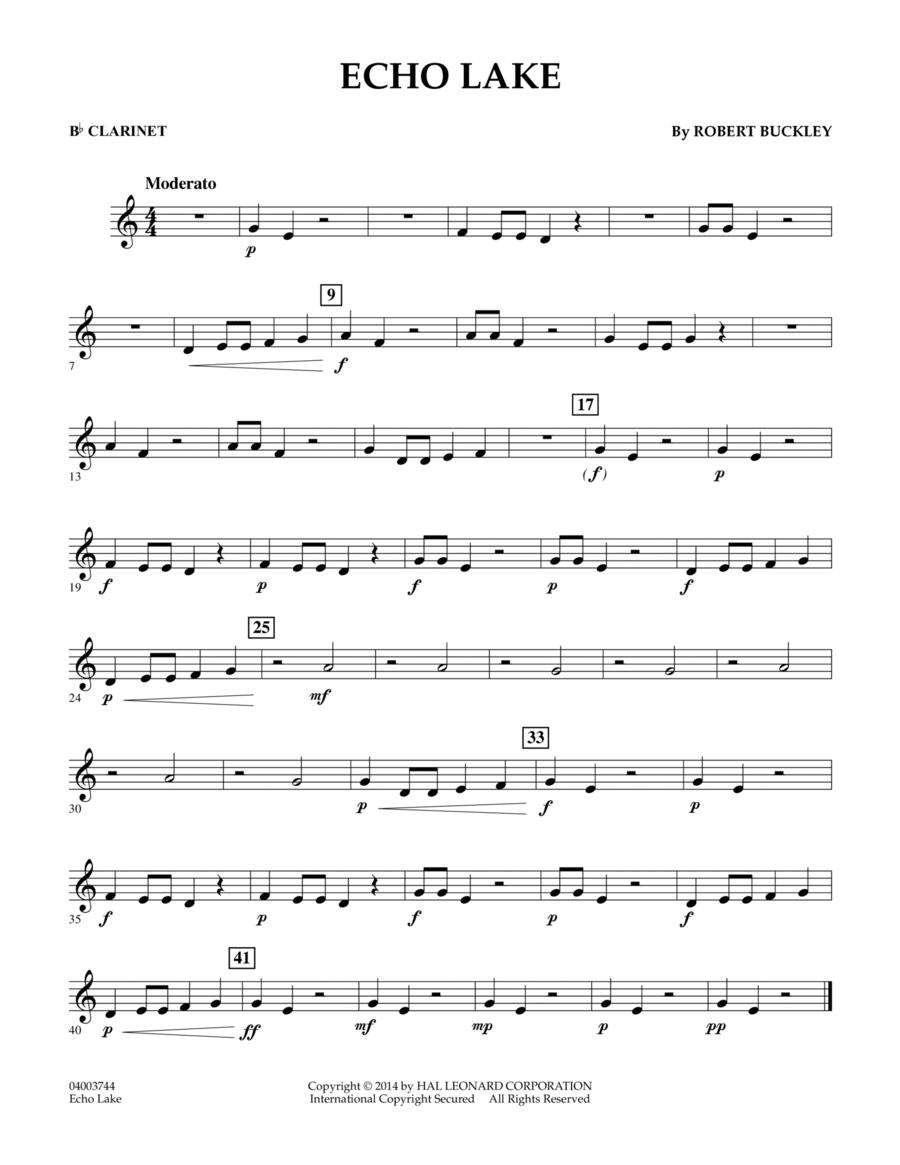 Echo Lake - Bb Clarinet