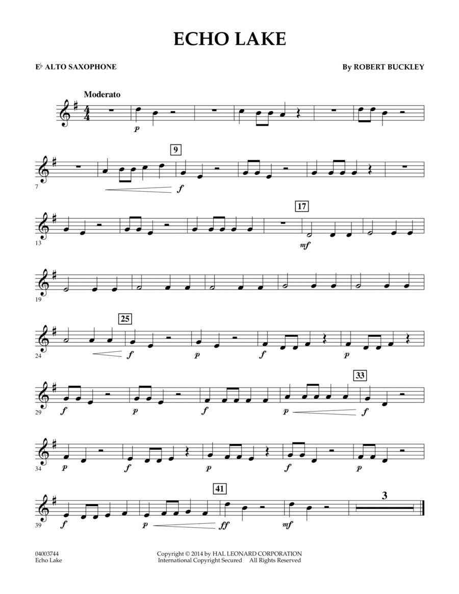 Echo Lake - Eb Alto Saxophone