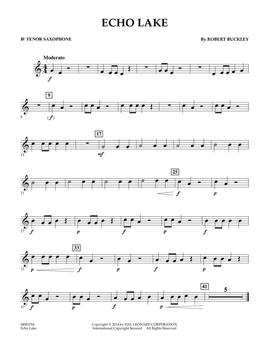 Echo Lake - Bb Tenor Saxophone