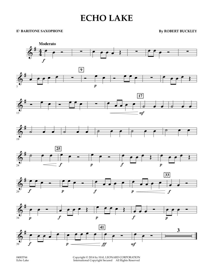 Echo Lake - Eb Baritone Saxophone