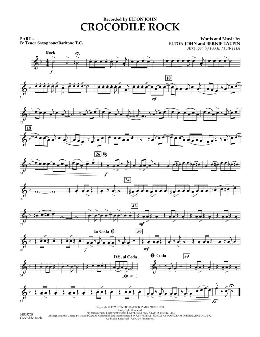Crocodile Rock - Pt.4 - Bb Tenor Sax/Bar. T.C.
