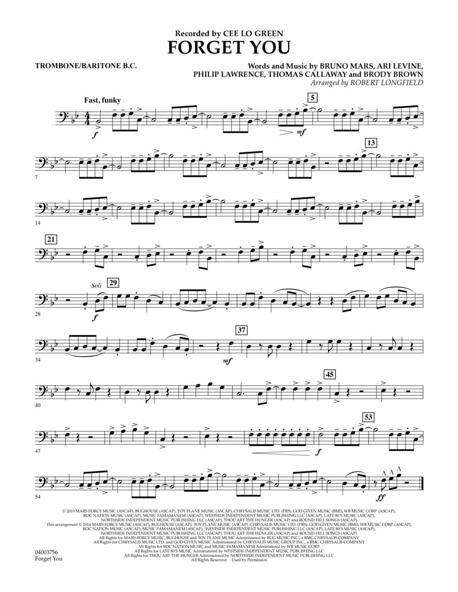 Forget You - Trombone/Baritone B.C.