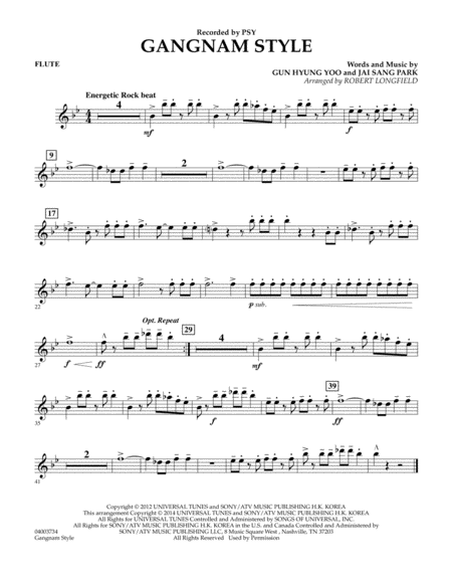 Gangnam Style - Flute