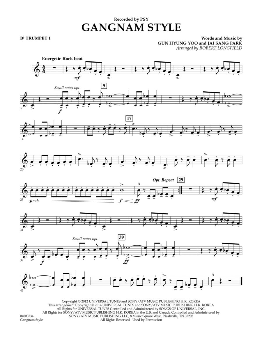 Gangnam Style - Bb Trumpet 1