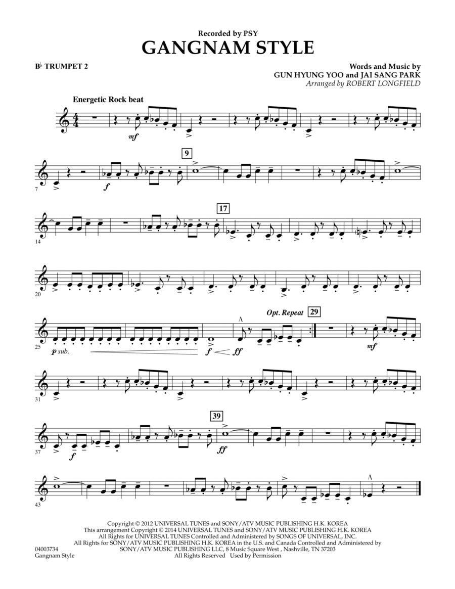 Gangnam Style - Bb Trumpet 2