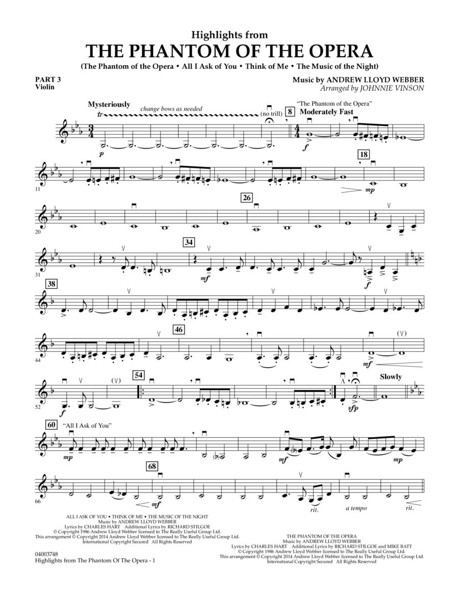 Highlights from The Phantom of the Opera - Pt.3 - Violin