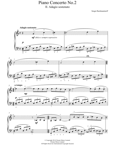 Piano Concerto No.2 - 2nd Movement