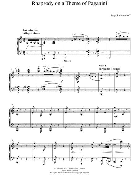 Rhapsody on a Theme of Paganini