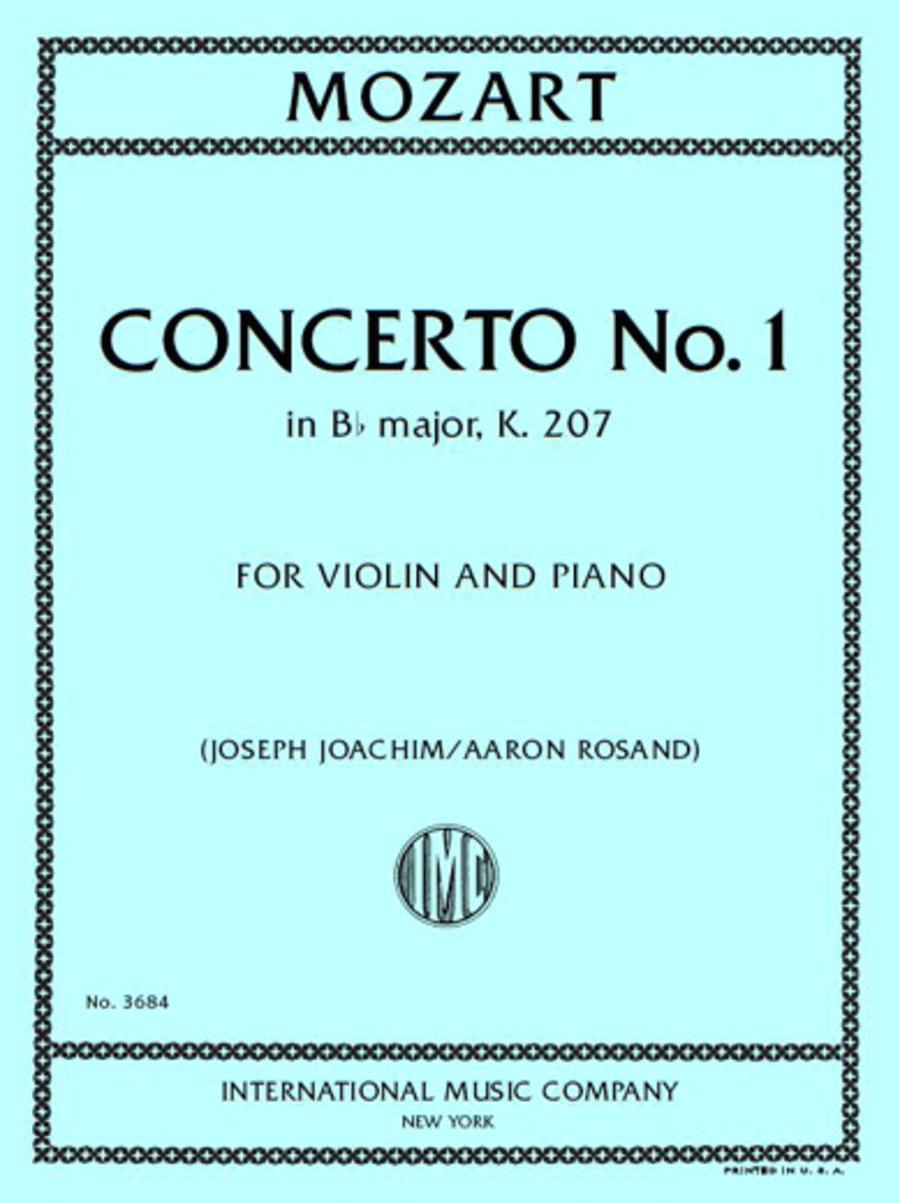 Concerto No. 1 in B-flat Major, K. 207