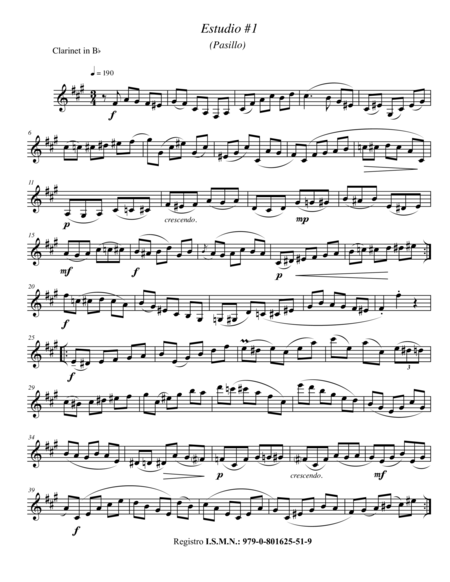Etudes for Solo Clarinet