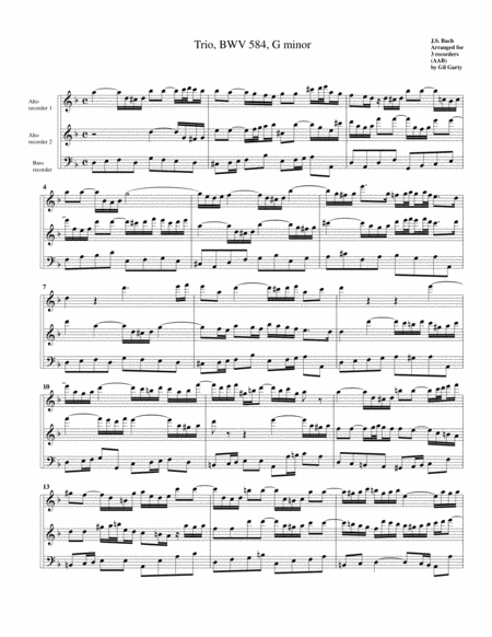 Trio for organ, BWV 584