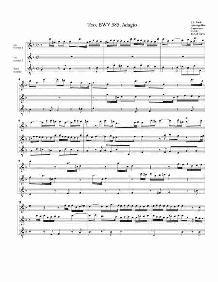 Trio for organ, BWV 585