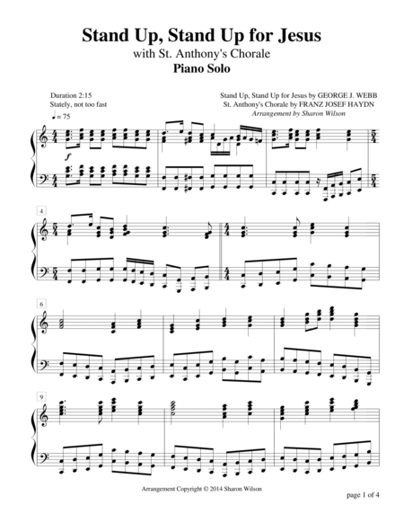 Stand Up, Stand Up for Jesus Medley (Piano Solo)
