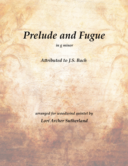 Prelude and Fugue No. 6, in g minor