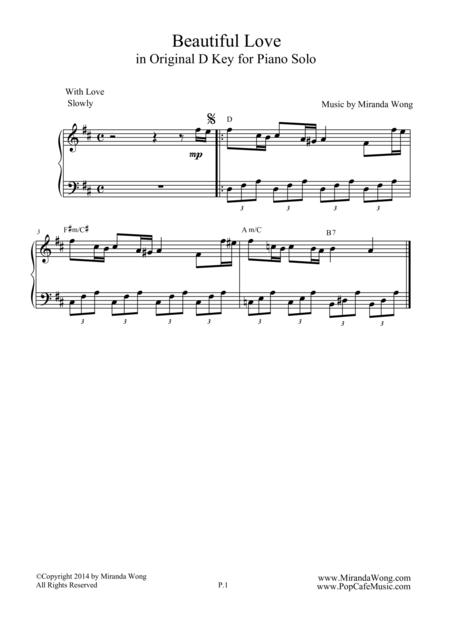 Beautiful Love - Wedding Piano Music by Miranda Wong