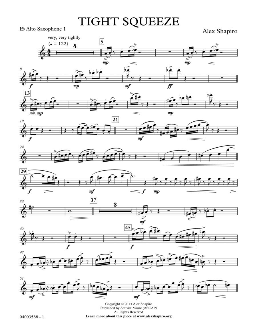 Tight Squeeze - Eb Alto Saxophone 1