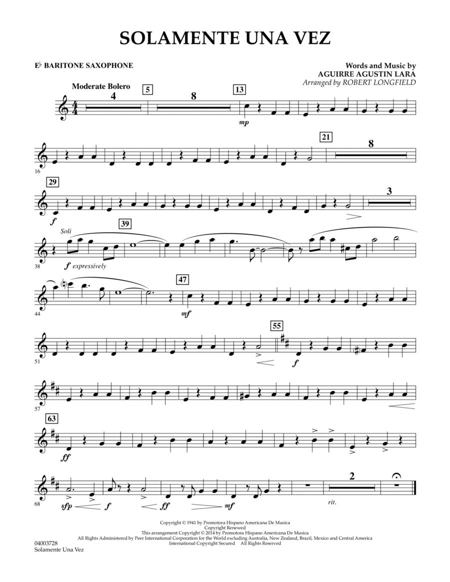 Solamente Una Vez - Eb Baritone Saxophone