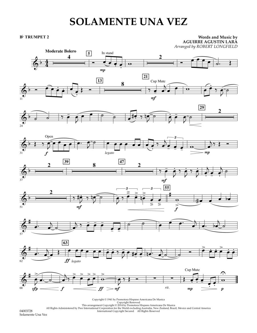 Solamente Una Vez - Bb Trumpet 2