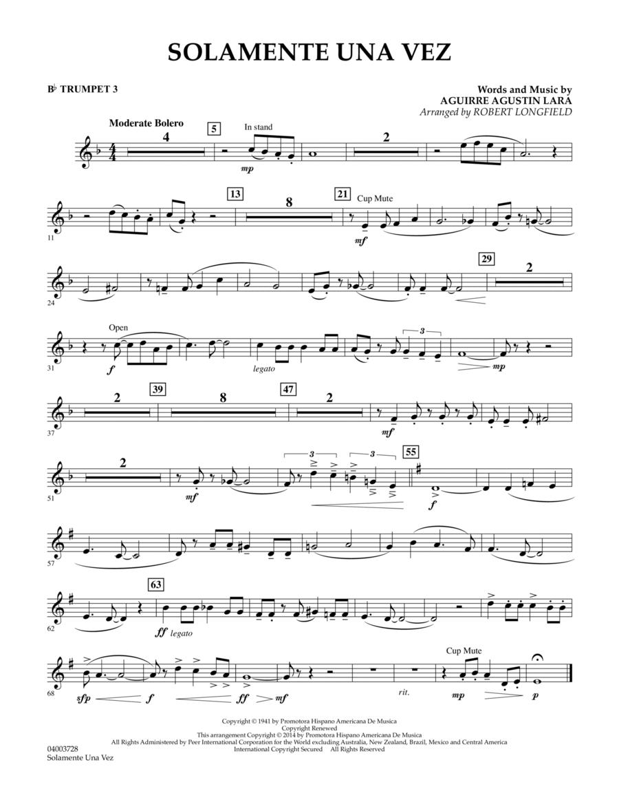 Solamente Una Vez - Bb Trumpet 3