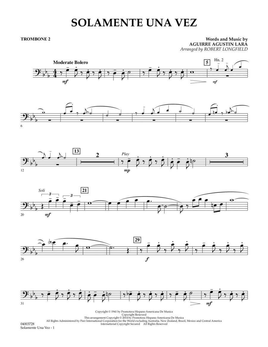 Solamente Una Vez - Trombone 2