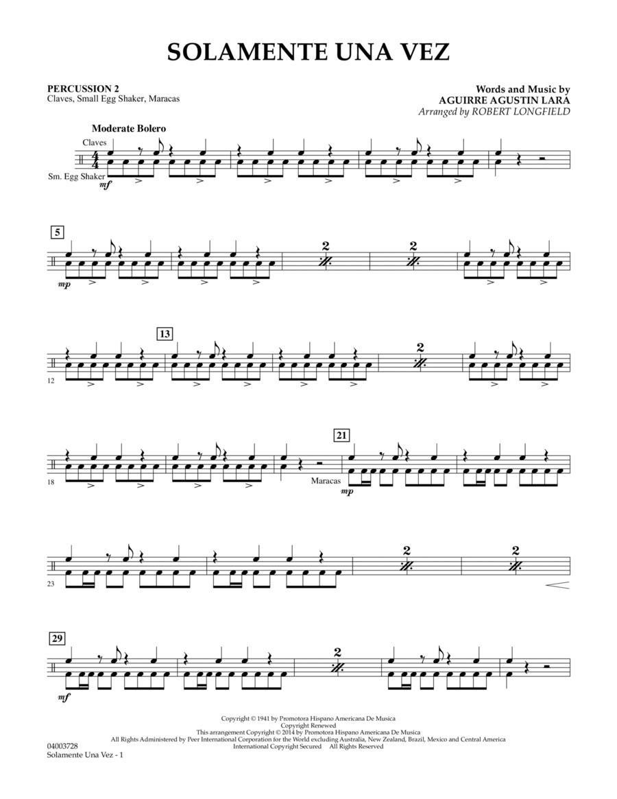 Solamente Una Vez - Percussion 2