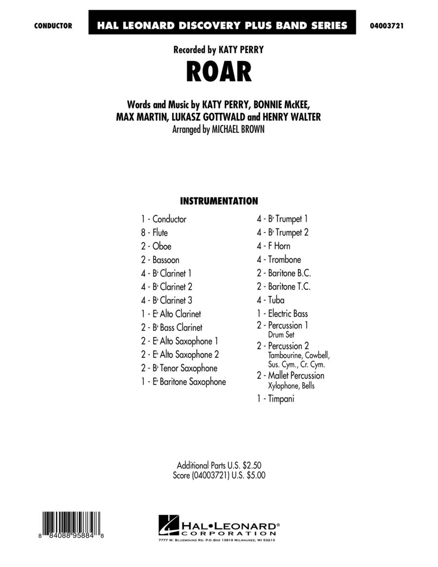 Roar - Conductor Score (Full Score)