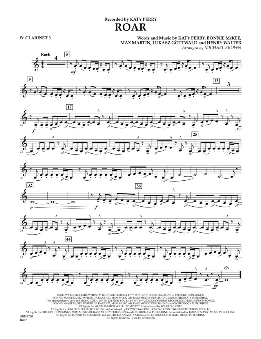 Roar - Bb Clarinet 3
