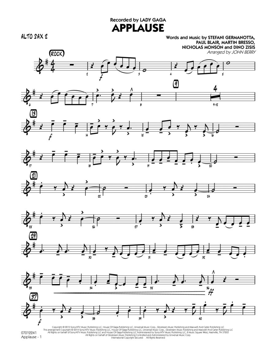 Applause - Alto Sax 2