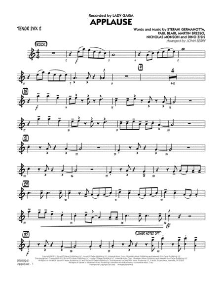 Applause - Tenor Sax 2