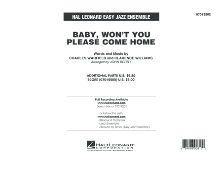 Baby, Won't You Please Come Home - Conductor Score (Full Score)