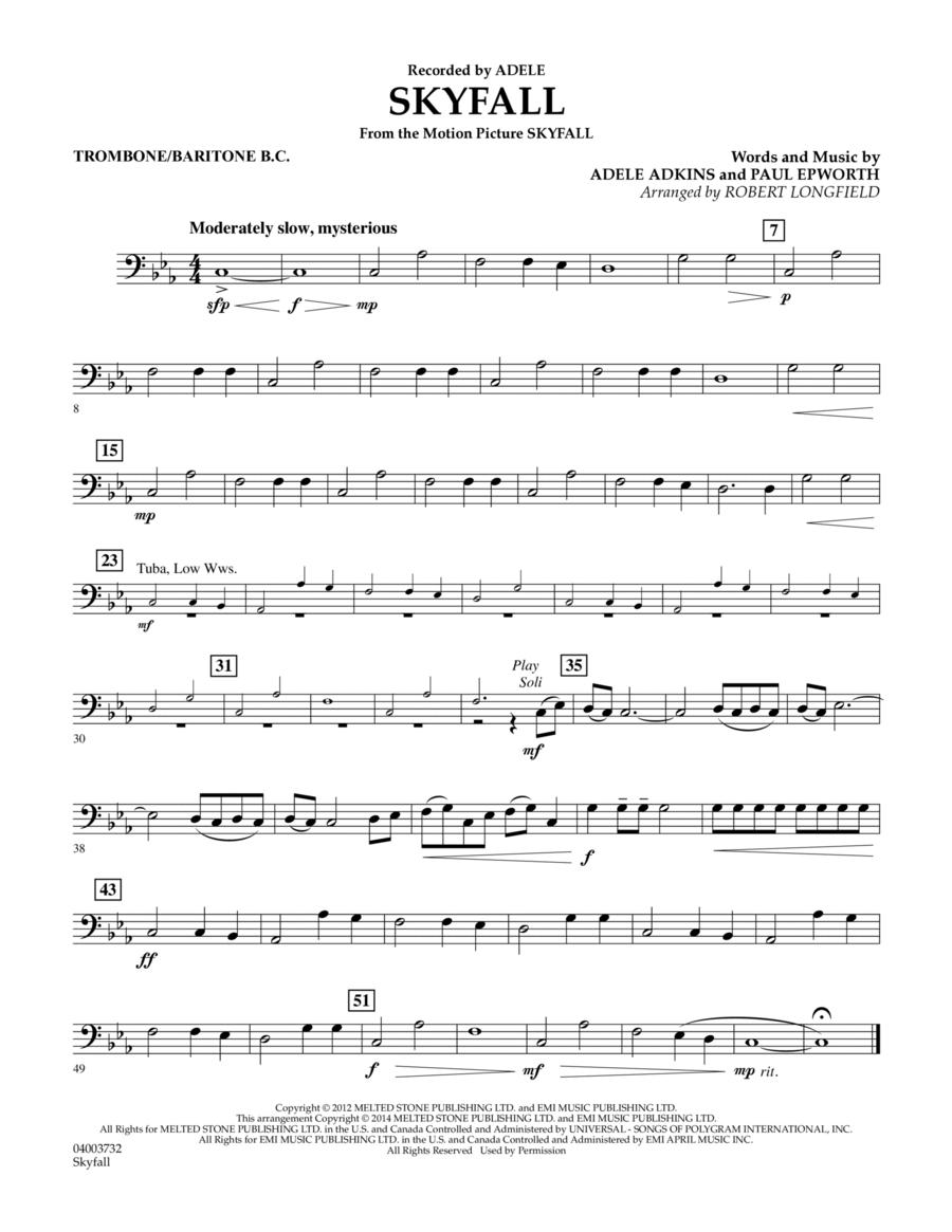 Skyfall - Trombone/Baritone B.C.