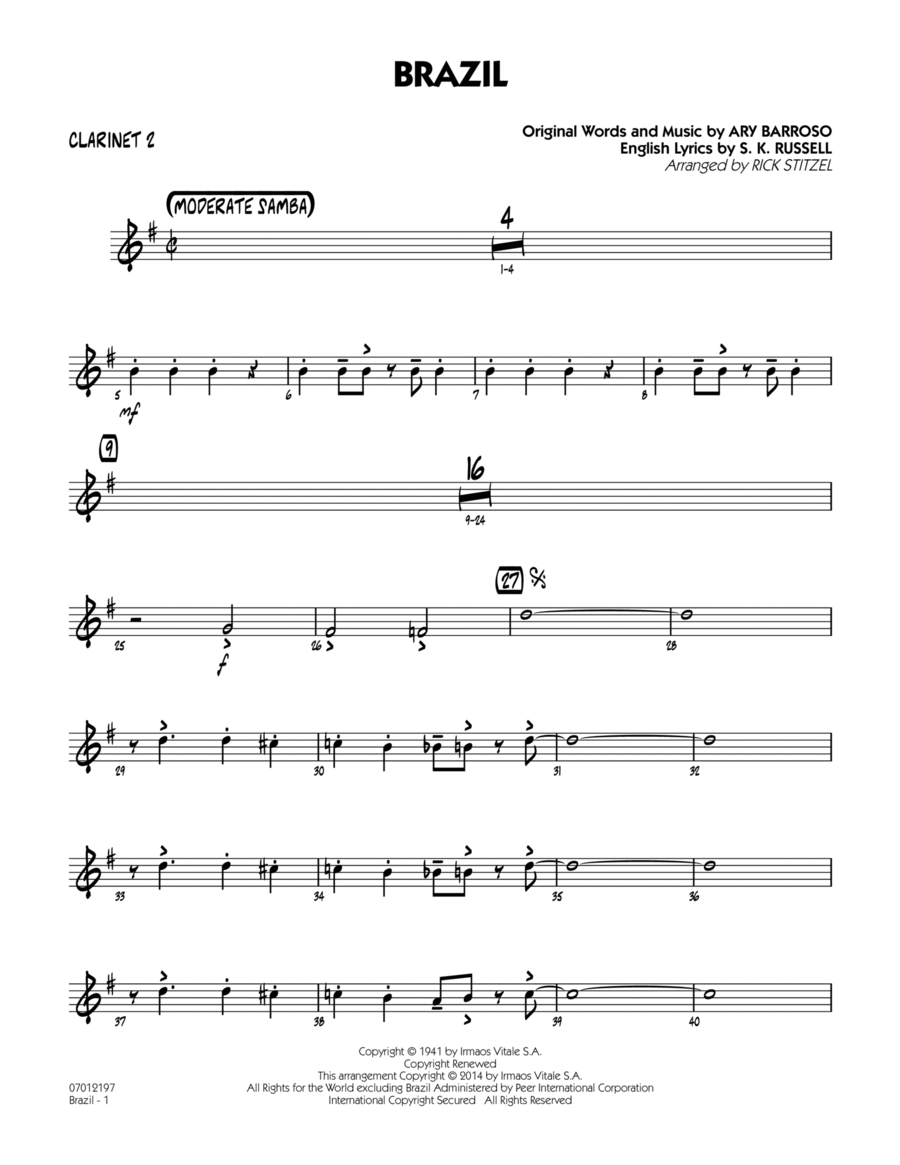 Brazil - Bb Clarinet 2