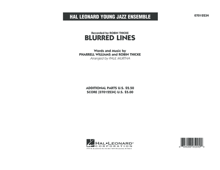 Blurred Lines - Conductor Score (Full Score)