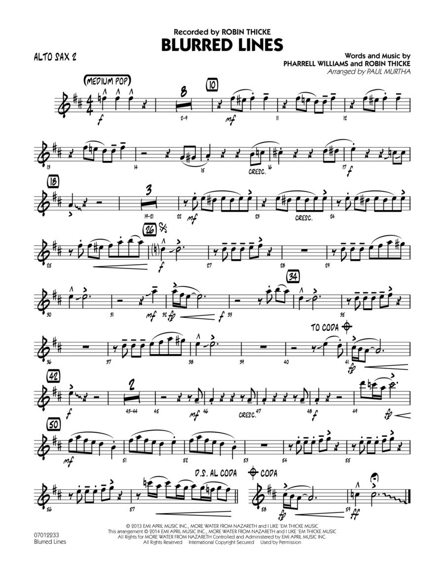 Blurred Lines - Alto Sax 2
