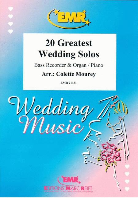 20 Greatest Wedding Solos