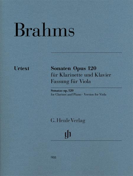 Clarinet Sonata (or Viola) Op. 120 Nos. 1-2