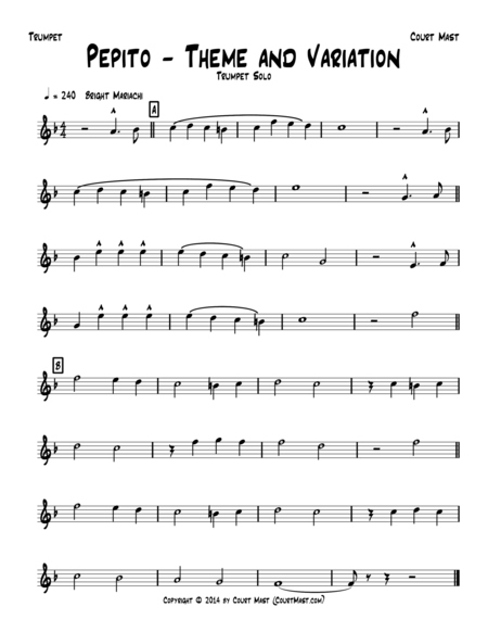 Pepito – Theme and Variation – Trumpet Solo