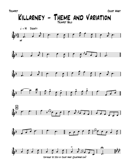 Killarney – Theme and Variation – Trumpet Solo