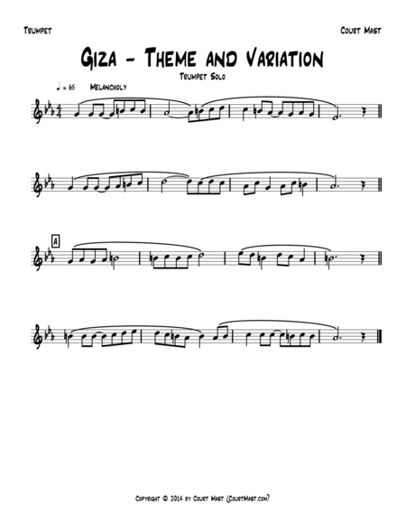 Giza – Theme and Variation – Trumpet Solo