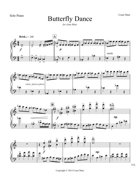 Butterfly Dance - Piano Solo