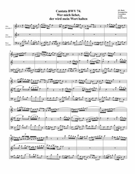 Aria: Wer mich liebet, der wird mein Wort halten from Cantata BWV 74