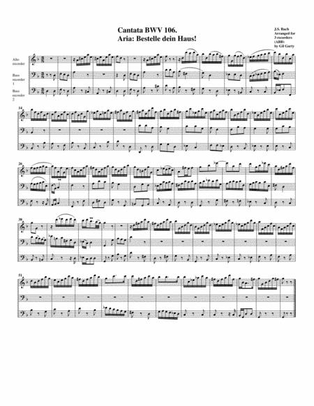 Aria: Bestelle dein Haus! from Cantata BWV 106