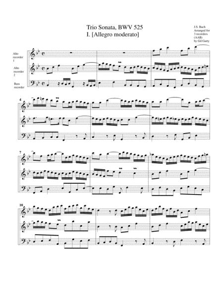 Trio sonata for organ, no.1, BWV 525