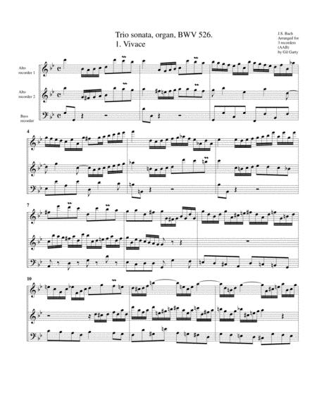 Trio sonata for organ, no.2, BWV 526