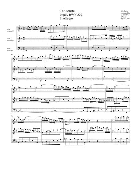 Trio sonata for organ, no.5, BWV 529